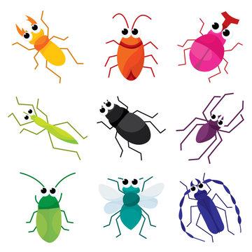 Colorful Cartoon Bugs