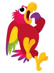 Terrified Cartoon Parrot