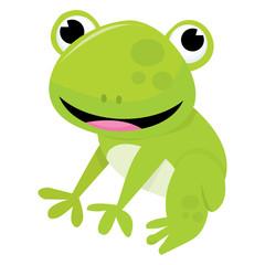 Cute Cartoon Friendly Frog
