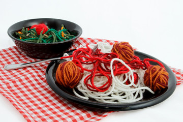 Artificial Food Created With Yarn