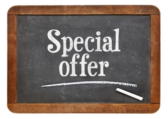 special offer blackboard sign