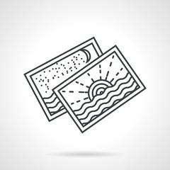 Seascape postcards line vector icon