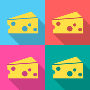 cheese icon great for any use. Vector EPS10.
