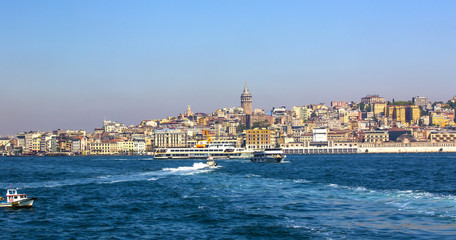 ISTANBUL, TURKEY - MAY 14, 2015:Panorama