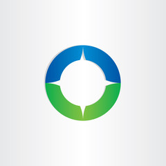 green blue compass icon