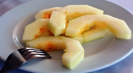Fresh dessert sweet melon.