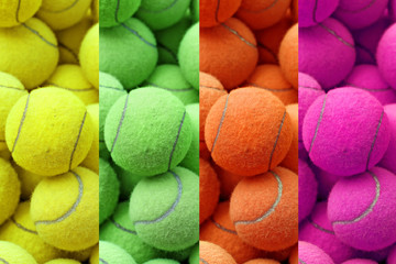 exotic color tennis ball