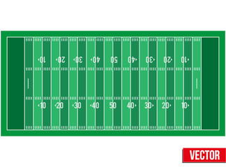 Sample football field in a simple outline.