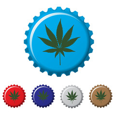 Cannabis plant bottle top