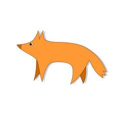 Logo silhouette vector design template. Wildlife animal