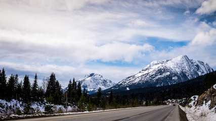 Wall Mural - The summit of the Coquihalla Highway  in British Columbia