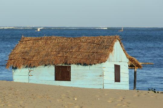 Fisherman house beside the lagoon