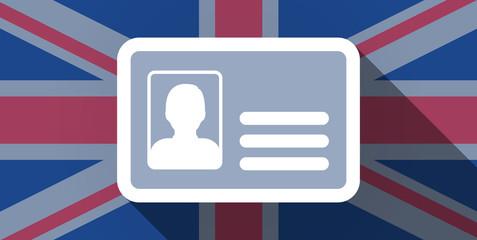 United Kingdom flag icon with an id card