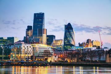 Photo sur Plexiglas Londres Financial district of the City of London