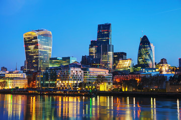 Zelfklevend Fotobehang London Financial district of the City of London