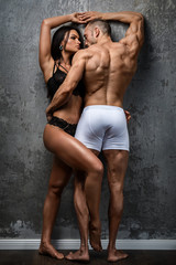 Sexy couple in underwear