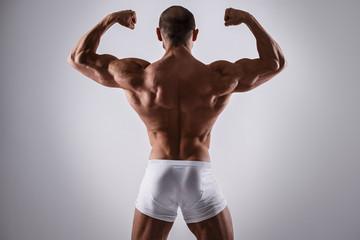 Handsome muscular man in underwear