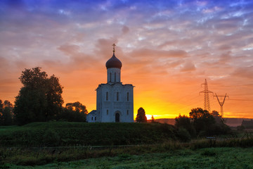 Church of  Intercession of  Holy Virgin on Nerl River,  Russia
