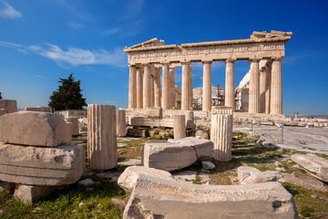 Poster Athens Parthenon temple on the Acropolis in Athens, Greece