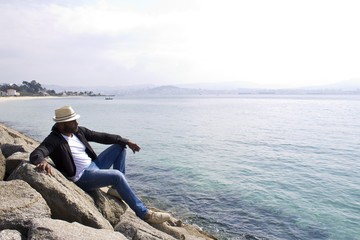 black man in the coast