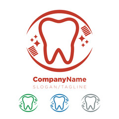 Dentist Dental Tooth vector logo icon