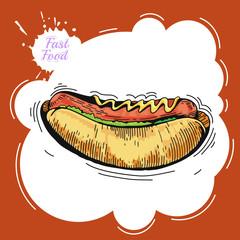 Hot dog. Poster
