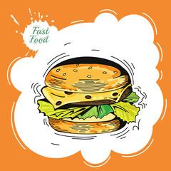 Burger. Poster