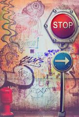 Urban street art-graffiti