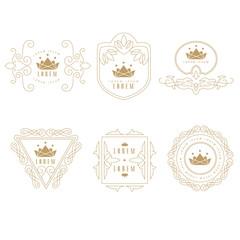 Set of Elegant Monogram Design.