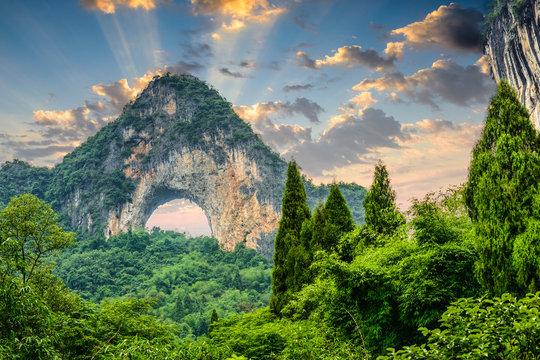 Moon Hill, Yangshuo, China.