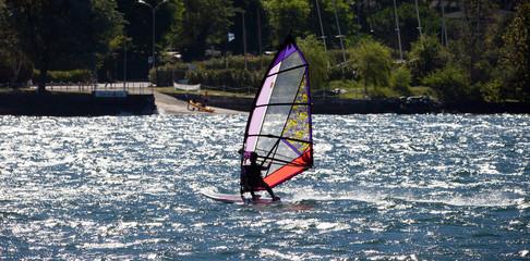 WindSurfer in Lake Como