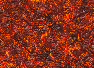 heat red lava texture of eruption volcano