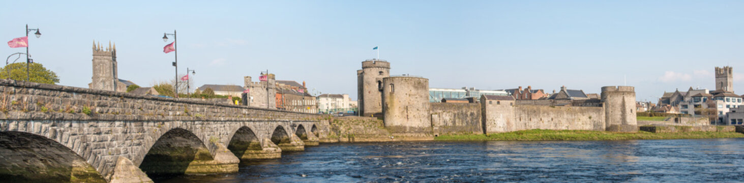 River Bridge to King John's Castle Limerick Ireland