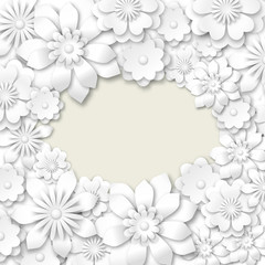 background with white flowers