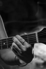 Guitarist close up