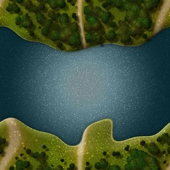 Seamless Green Terrain Background