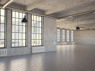 Empty Industrial Loft