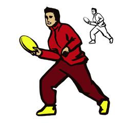 Man throwing flying disc