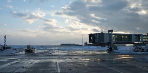 Aeroporto dopo la tempesta