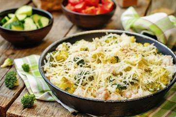 broccoli cheese chicken rice