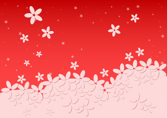 Kiddie background for text. Meadow with light falling flowers