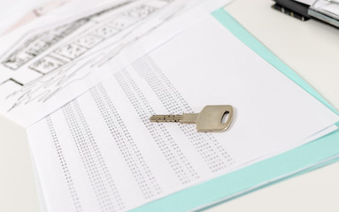 House key on an amortization schedule