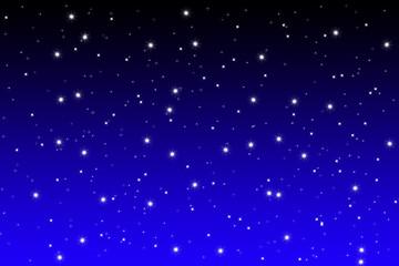 leuchtende Sterne an klarem Nacht Himmel