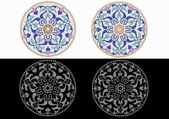 5 ve 6 lı dairesel motif