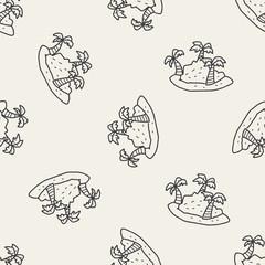 island doodle seamless pattern background