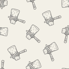 Ax doodle seamless pattern background