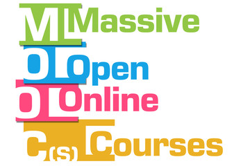 MOOCs Abstract Colorful Stripes