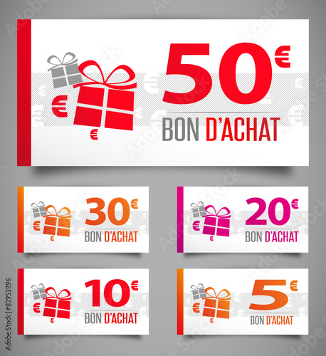 Bons d 39 achat de 50 5 euros fichier vectoriel libre de for Bon d achat id garage