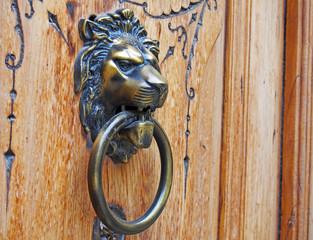 Metallic face at an old door, Valencia