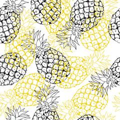 Vector pineapple background